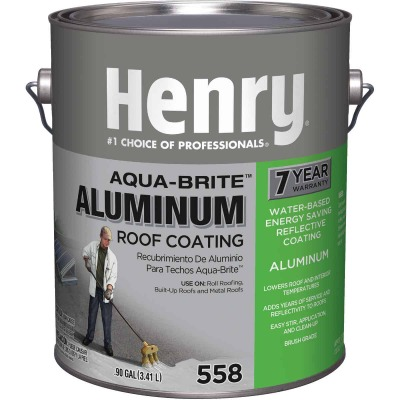 Henry Aqua-Brite 1 Gal. Fibered Aluminum Roof Coating