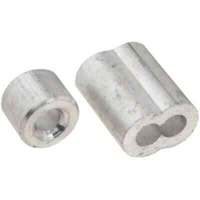 """Prime-Line Cable Ferrules and Stops, 5/32"""", Aluminum"""