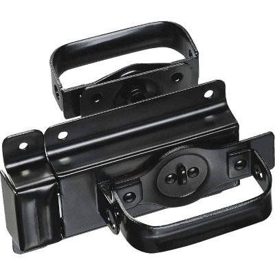 National Heavy-Duty Black Swinging Door Latch