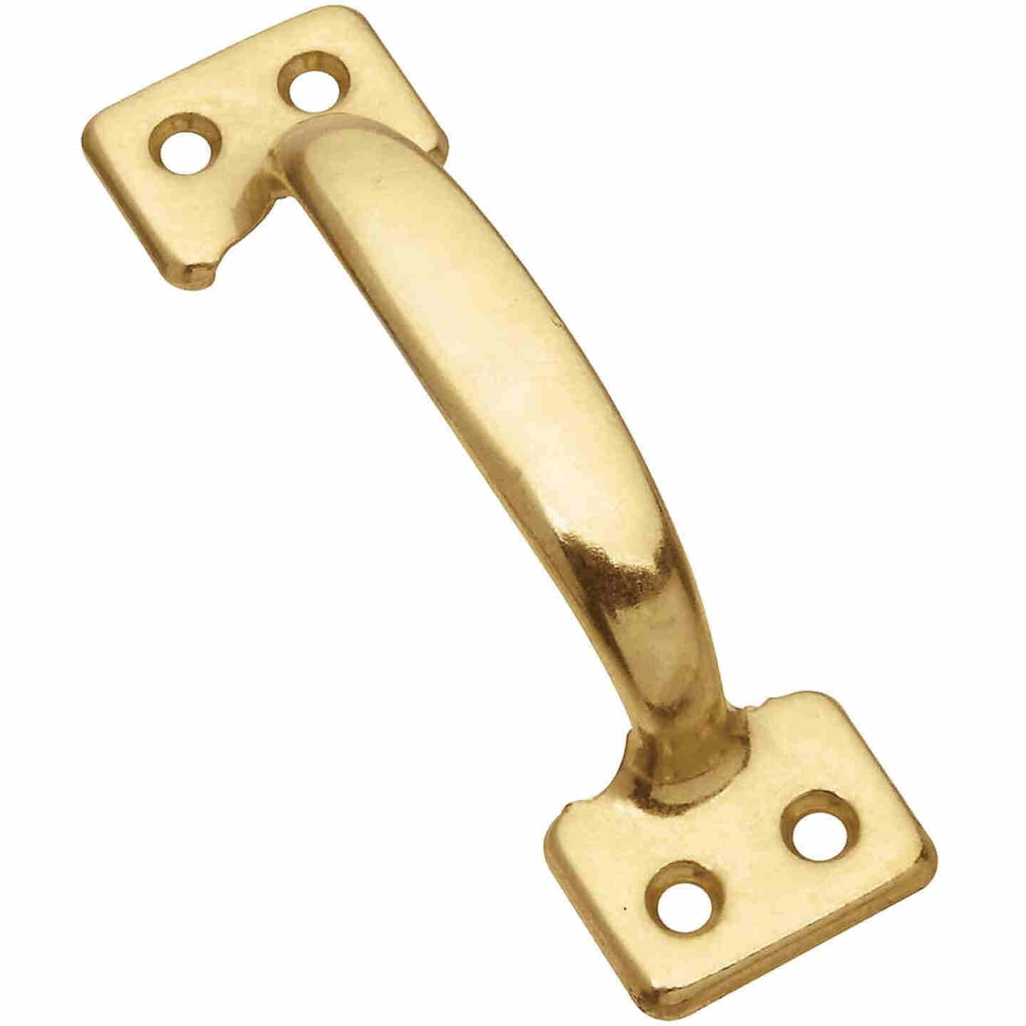 National V170 4 In. Bright Brass Window Sash Lift Image 1