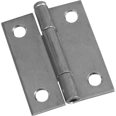 National 2 In. Zinc Loose-Pin Narrow Hinge (2-Pack)
