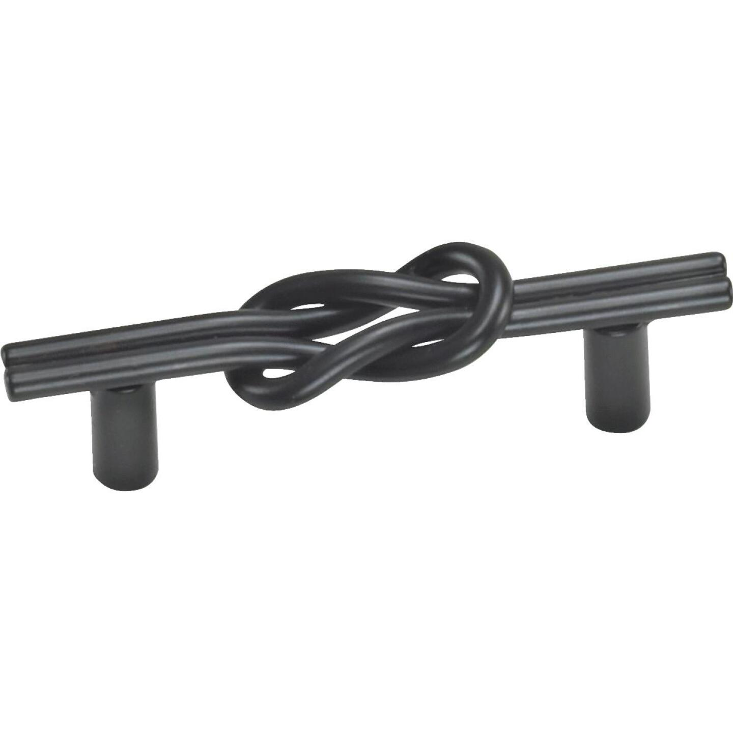 Laurey Black Matte Nantucket Center Knot 3 In. Cabinet Pull Image 1