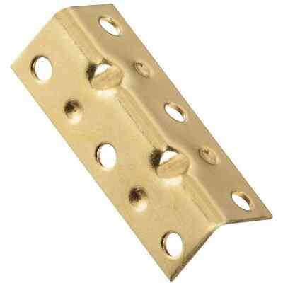 National Catalog V113 Series 2-1/2 In. x 3/4 In. Brass Corner Brace (4-Count)