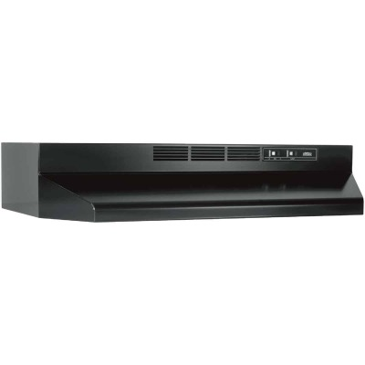 Broan-Nutone 41000 Series 30 In. Non-Ducted Black Range Hood