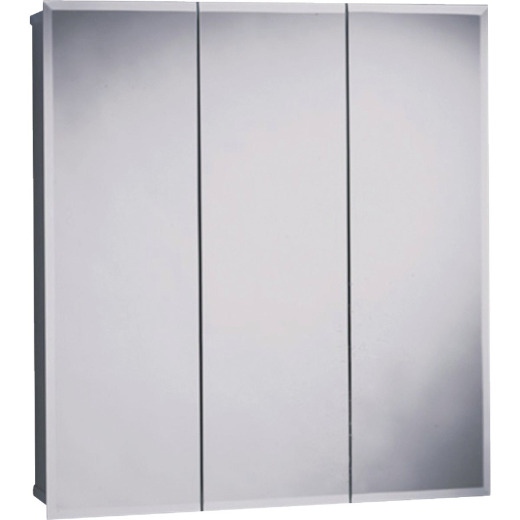 Zenith Frameless Beveled 29-5/8 In. W x 25-3/8 In. H x 4-1/2 In. D Tri-View Surface Mount Medicine Cabinet
