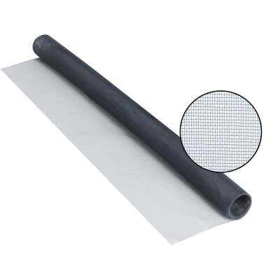 Phifer 48 In. x 84 In. Charcoal Aluminum Screen Ready Rolls