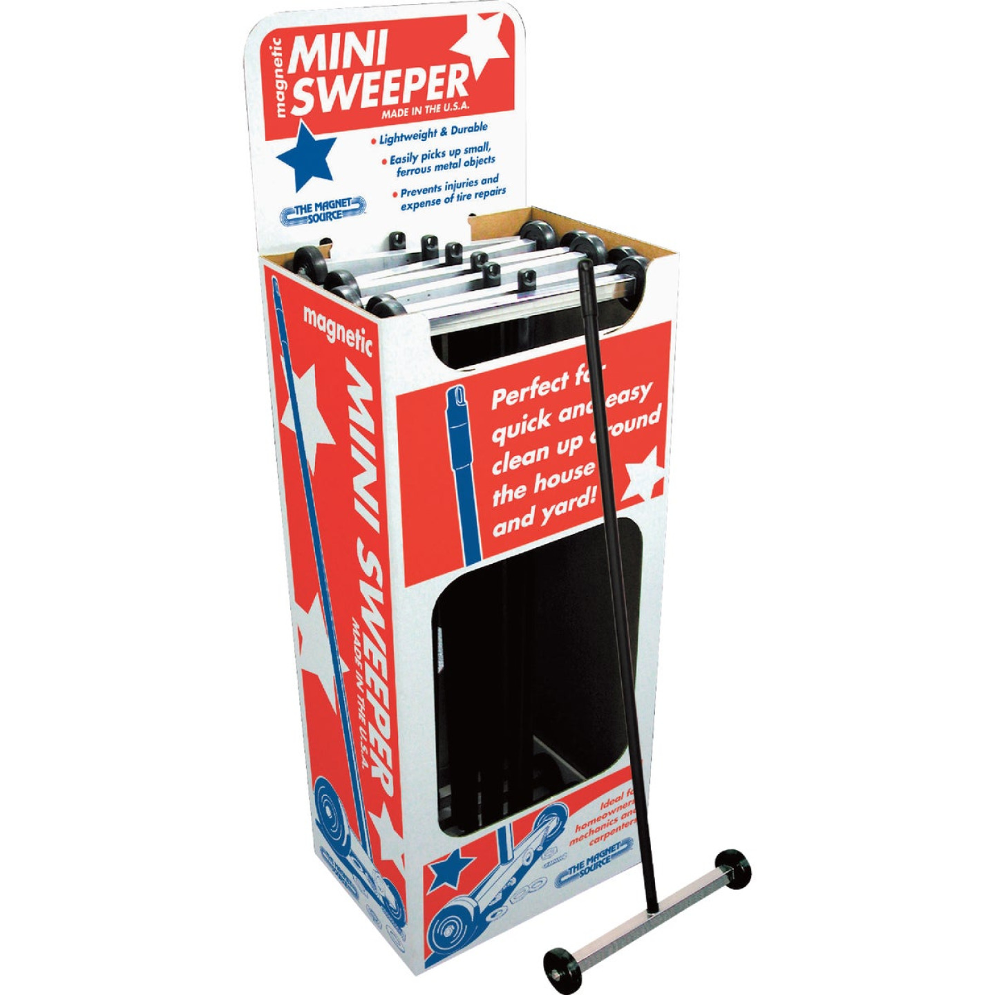 Master Magnetics Magnet Source 32 In. Mini Magnetic Floor Sweeper Image 4