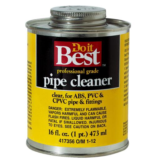 Do it Best 16 Oz. All-Purpose Pipe Clear PVC Cleaner