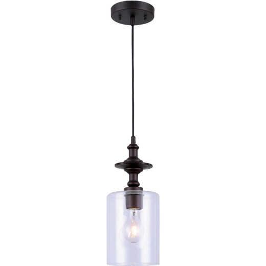 Home Impressions York 1-Bulb Oil Rubbed Bronze Incandescent Cord Pendant Light Fixture