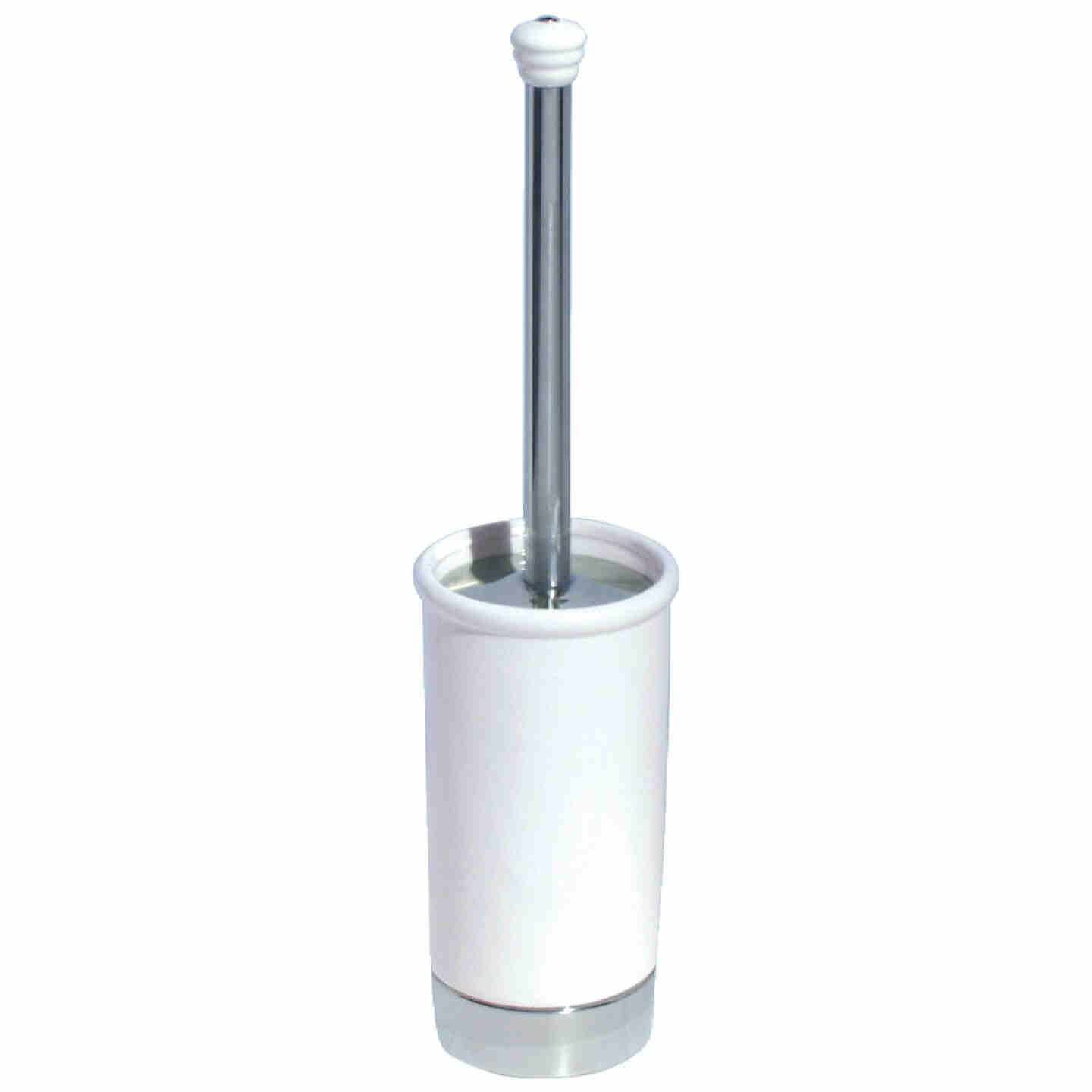 InterDesign York 17.5 In. Toilet Bowl Brush With Caddy Image 1