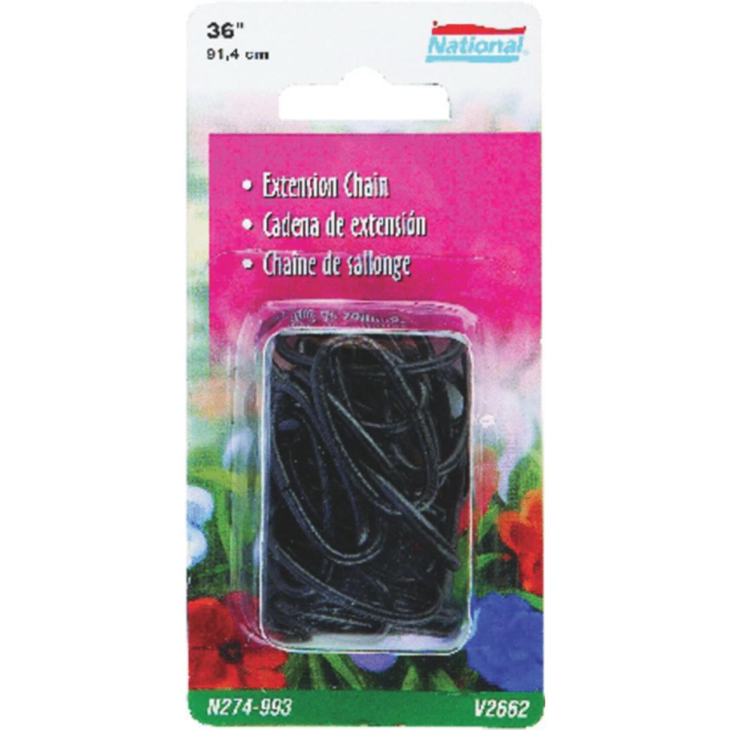 National 36 In. Black Metal Hanging Plant Extension Chain Image 1