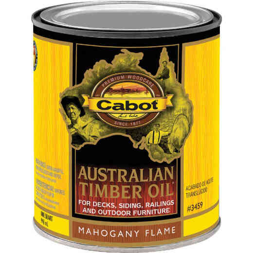 Cabot Australian Timber Oil Translucent Exterior Oil Finish, Mahogany Flame, 1 Qt.