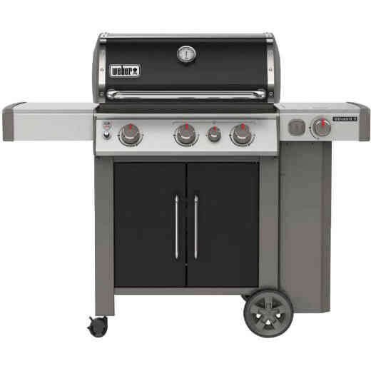 Weber Genesis II E-335 3-Burner Black 39,000 BTU LP Gas Grill with 12,000 BTU Side -Burner