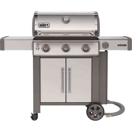 Weber Genesis II S-315 3-Burner Stainless Steel 39,000 BTU Natural Gas Grill